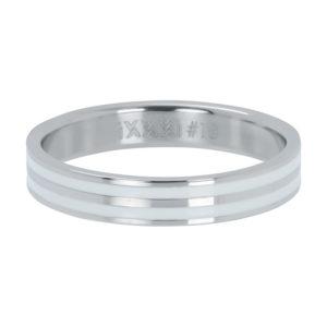 Ixxxi - Double Line White Silver R05301