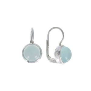Coby van den Bor - Earrings Silver Aqua Calcedony