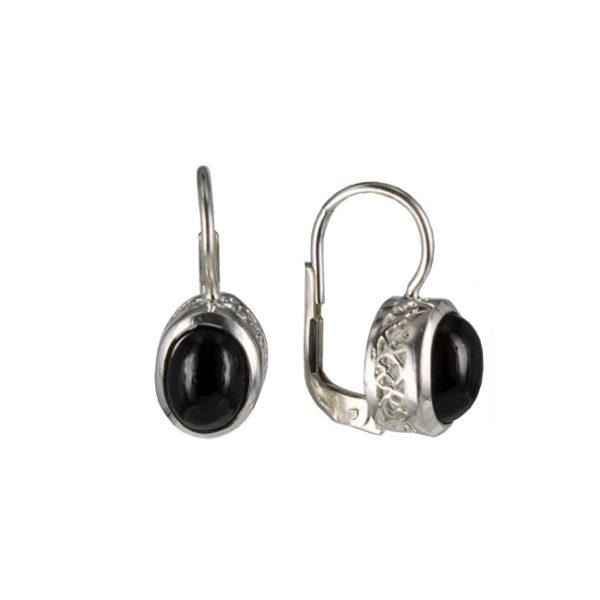 Coby van den Bor - Earrings Silver Black Spinel