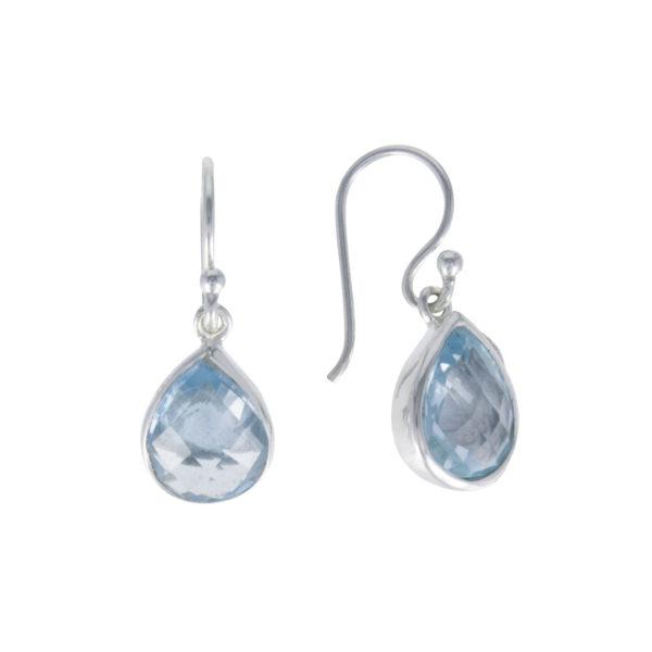 Coby van den Bor - Earrings Silver Blue Topaz