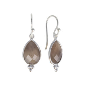 Coby van den Bor - Earrings Silver Choco Moonstone