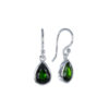 Coby van den Bor - Earrings Silver Chromium Diopside