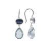 Coby van den Bor - Earrings Silver Cyanite Blue Topaz