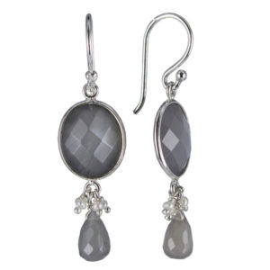Coby van den Bor - Earrings Silver Grey Moonstone