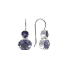 Coby van den Bor - Earrings Silver Iolite