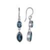 Coby van den Bor - Earrings Silver London Blue Topaz