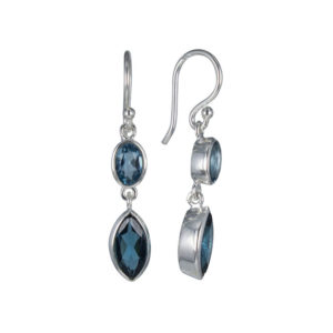 Coby van den Bor - Earrings Silver London Blue Topaz