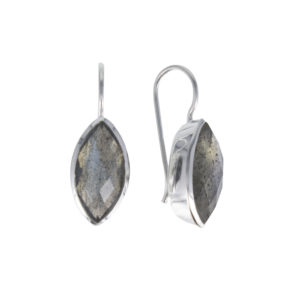 Coby van den Bor - Earrings Silver Marquise Labradorite
