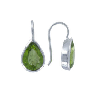 Coby van den Bor - Earrings Silver Peridot