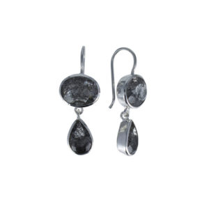 Coby van den Bor - Earrings Silver Rutile Quartz