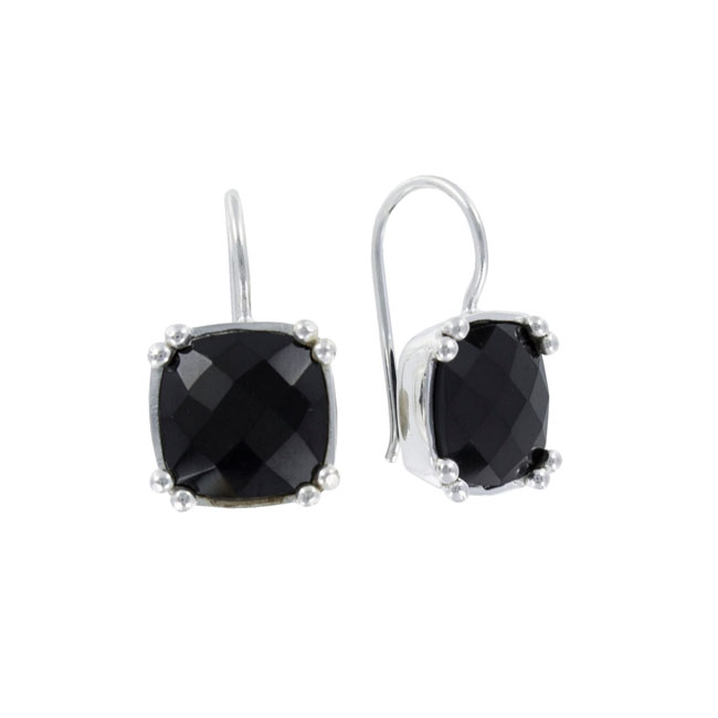 Coby van den Bor - Earrings Silver Square Onyx