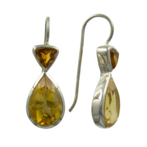 Coby van den Bor - Earrings Silver Trilion Citrine