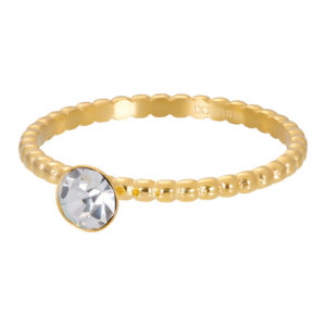 Ixxxi - Ball With Crystal Stone Gold R02818