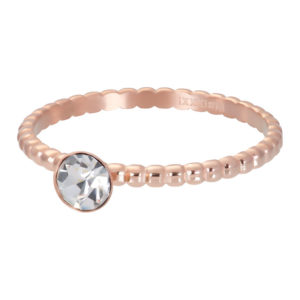 Ixxxi - Ball With Crystal Stone Rosegold R02818