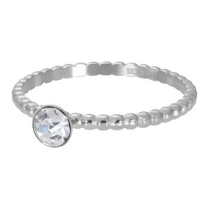 Ixxxi - Ball With Crystal Stone Silver R02818