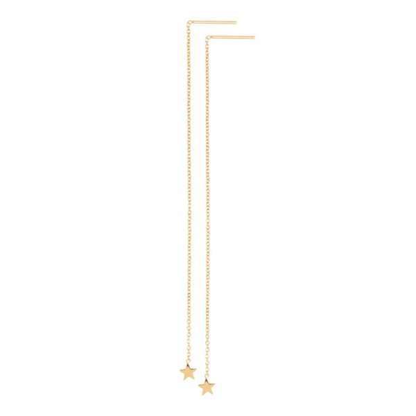Ixxxi - Ear Studs Chain Star Gold