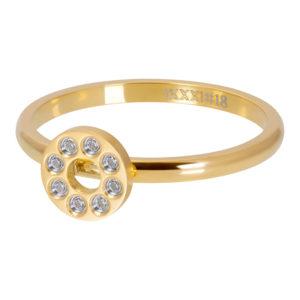 Ixxxi - Flat Circles Crystal Stone Gold R02819