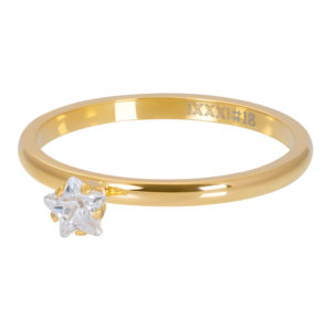 Ixxxi - Star Crystal Stone Gold R04209