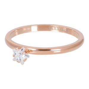 Ixxxi - Star Crystal Stone Rosegold R04209