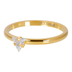 Ixxxi - Triangle Crystal Stone Gold R04210