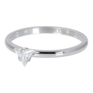 Ixxxi - Triangle Crystal Stone Silver R04210