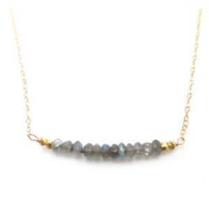 La Lacey - Necklace Labradorite Bar