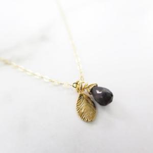 La Lacey - Sapphire Leaf Necklace