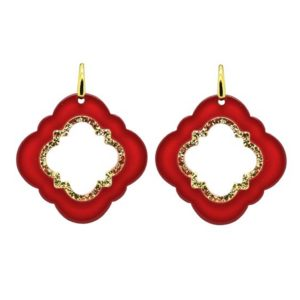 Miccy's - Red Caviar Small Earrings