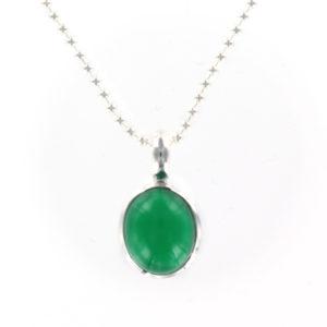 Coby van den Bor - Pendant Silver Green Onyx
