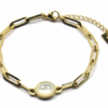 Zag Bijoux - Gold Bracelet Agate White
