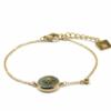 Zag Bijoux - Gold Bracelet Amazonite Star 2