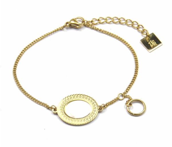 Zag Bijoux - Gold Bracelet Mother of Pearl Oval