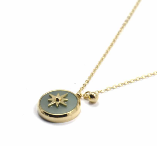 Zag Bijoux - Gold Necklace Amazonite Star