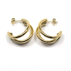 Zag Bijoux - Triple Earrings Gold