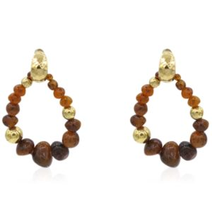 Gas Bijoux - Biba Brown Earrings