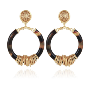 Gas Bijoux - Mariza Small Earrings Brown