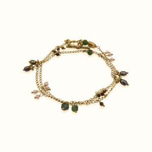 Gas Bijoux - Tangerine Green Bracelet