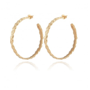 Gas Bijoux - Tresse Hoop Earrings Gold