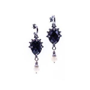 Gem Kingdom - Earrings Blue Goldstone E19C02B