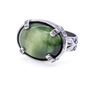 Gem Kingdom - Green Tigereye Ring R19a11 1
