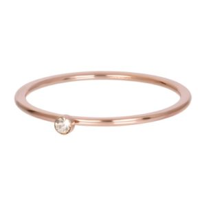 Ixxxi - Blond Flare 1 Stone Crystal Rosegold R03907-02