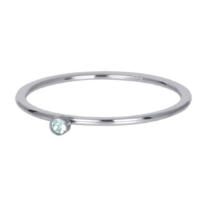 Ixxxi - Green 1 Stone Crystal Silver R03906-03