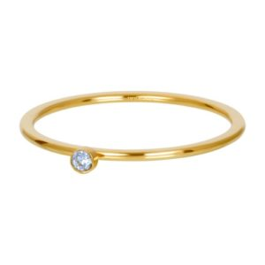 Ixxxi - Light Sapphire 1 Stone Crystal Gold R03909-01