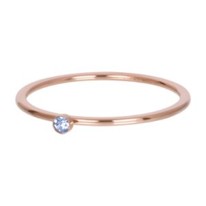 Ixxxi - Light Sapphire 1 Stone Crystal Rosegold R03909-02