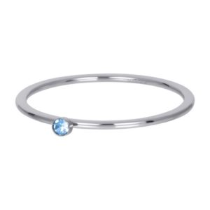Ixxxi - Light Sapphire 1 Stone Crystal Silver R03909-03