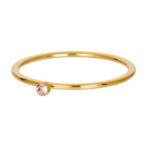 Ixxxi - Pink 1 Stone Crystal Gold R03908-01