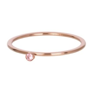 Ixxxi - Pink 1 Stone Crystal Rosegold R03908-02