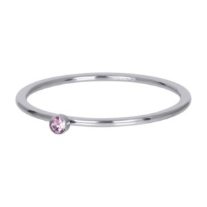Ixxxi - Pink 1 Stone Crystal Silver R03908-03