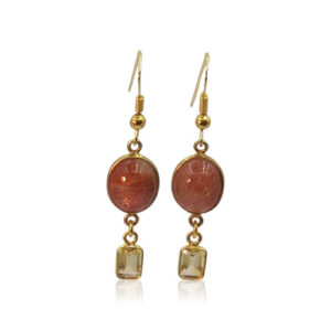 Callysta's Findings - Earrings Brown Goldstone
