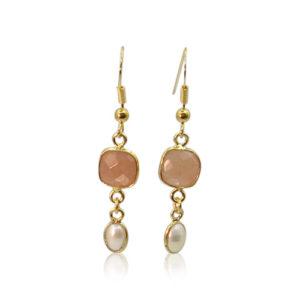 Callysta's Findings - Earrings Chalcedone Pearls